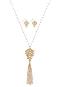 Gold Arrowhead Necklace Set