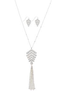 Silver Arrowhead Necklace Set