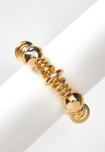 Gold Stretchy Statement Bracelet