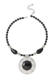 Large Filigree Pendant Necklace