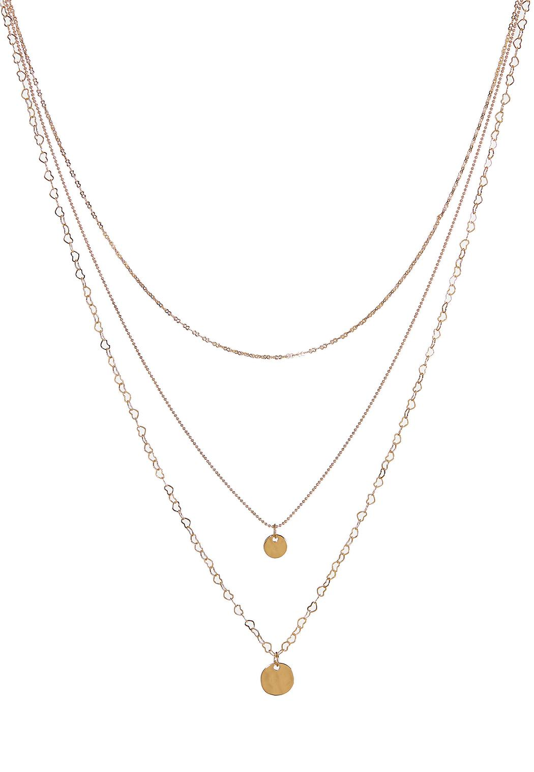 Delicate Layered Disc Chain Necklace