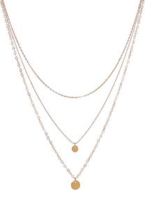 Delicate Layered Disk Chain Necklace