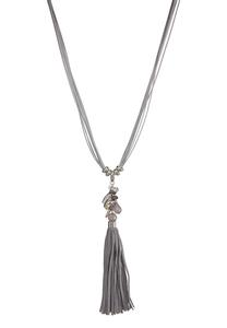 Suede Tassel Cord Necklace