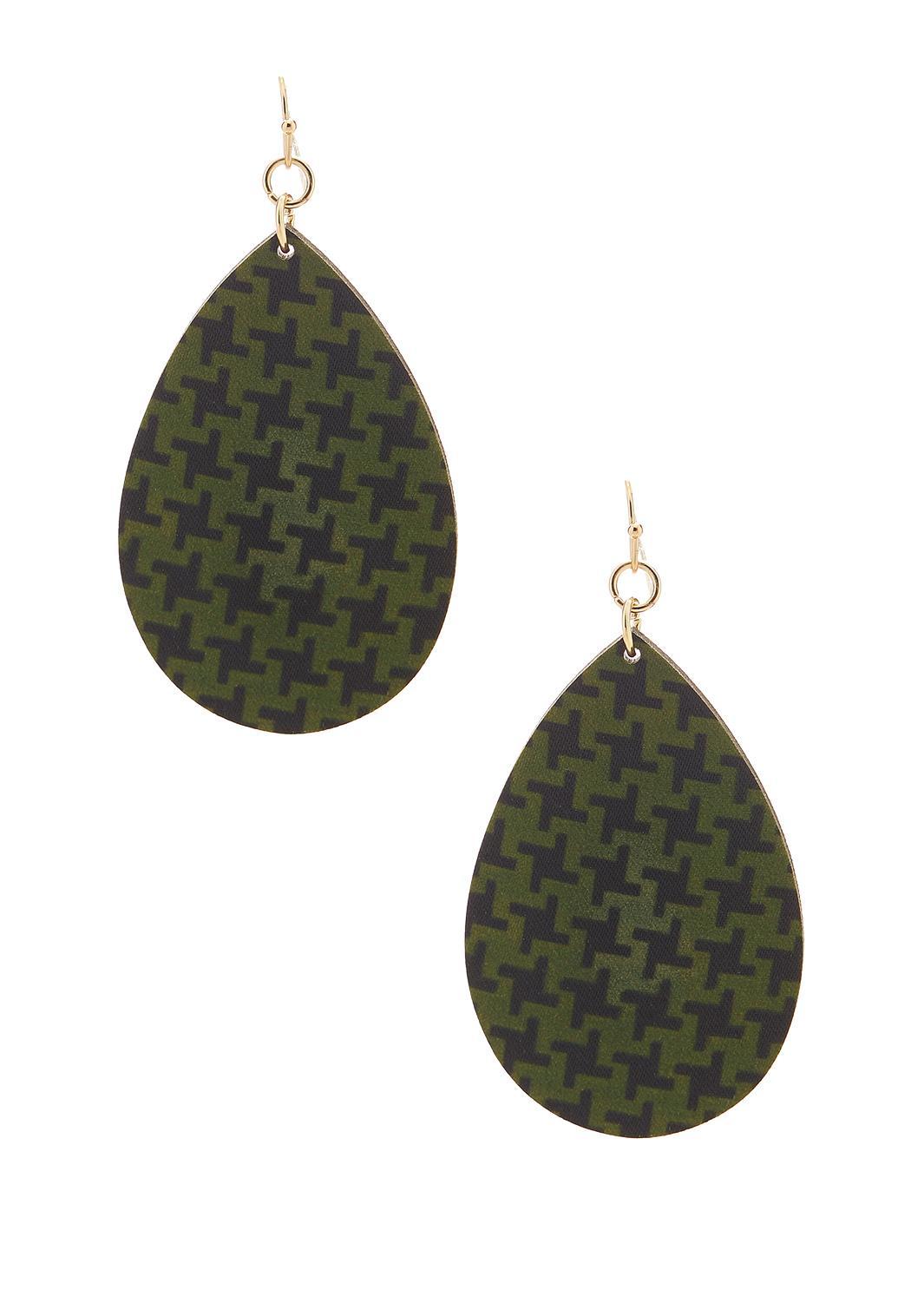 Printed Wood Earrings