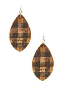Plaid Cork Earrings