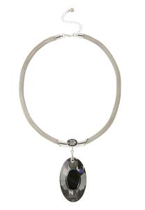 Mesh Chain Pendant Necklace