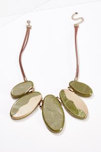 Marbled Lucite Bib Necklace