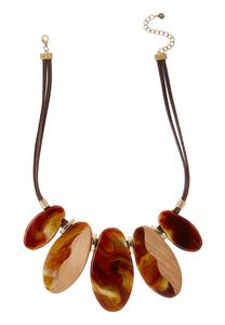 Marbled Lucite Bib Necklace