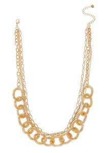 Layered Mixed Gold Chain Necklace