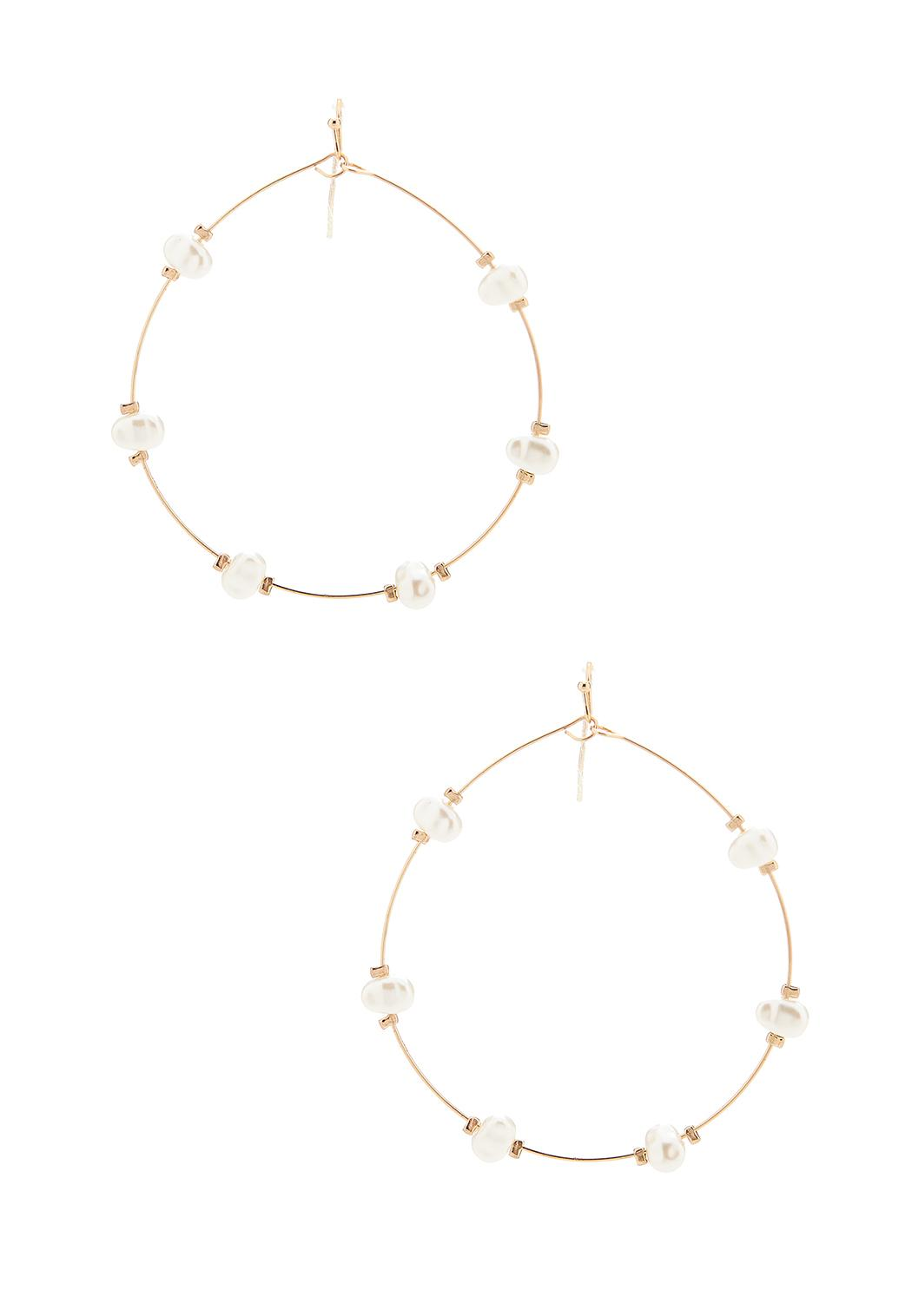 Wire Pearl Earrings