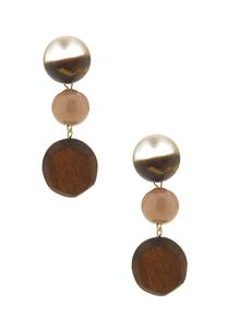 Mixed Wood Bead Earrings