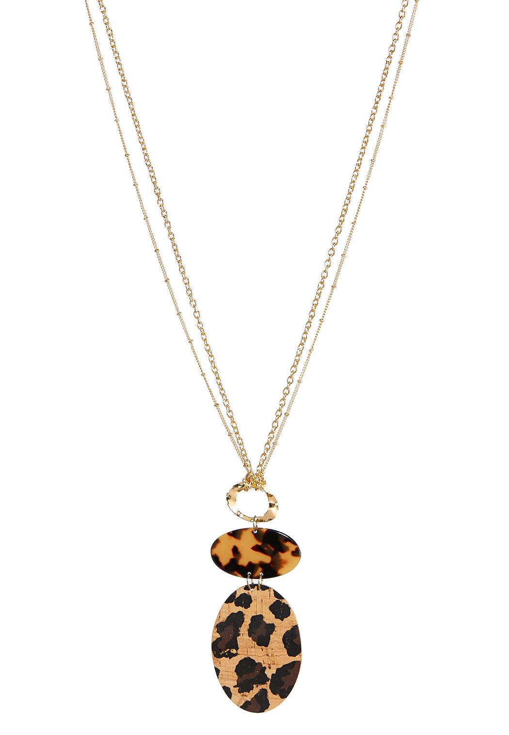 Tiered Leopard Pendant Necklace