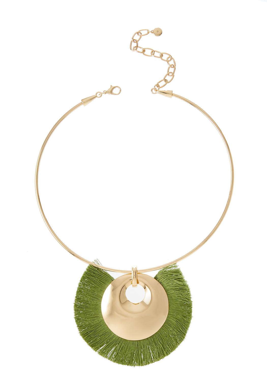 Fringe Wire Pendant Necklace