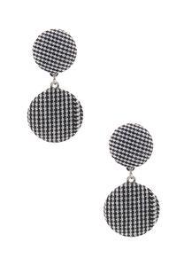 Double Plaid Dangle Earrings