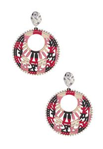 Multi Filigree Circle Earrings