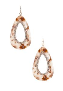 Marbled Lucite Stone Earrings