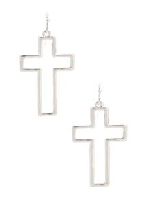 Cutout Cross Earrings