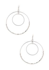 Delicate Beaded Circle Earrings