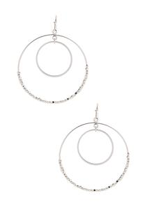Delicate Beaded Circle Earrings