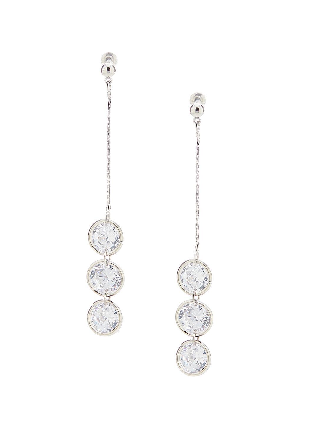 Triple Stone Earrings