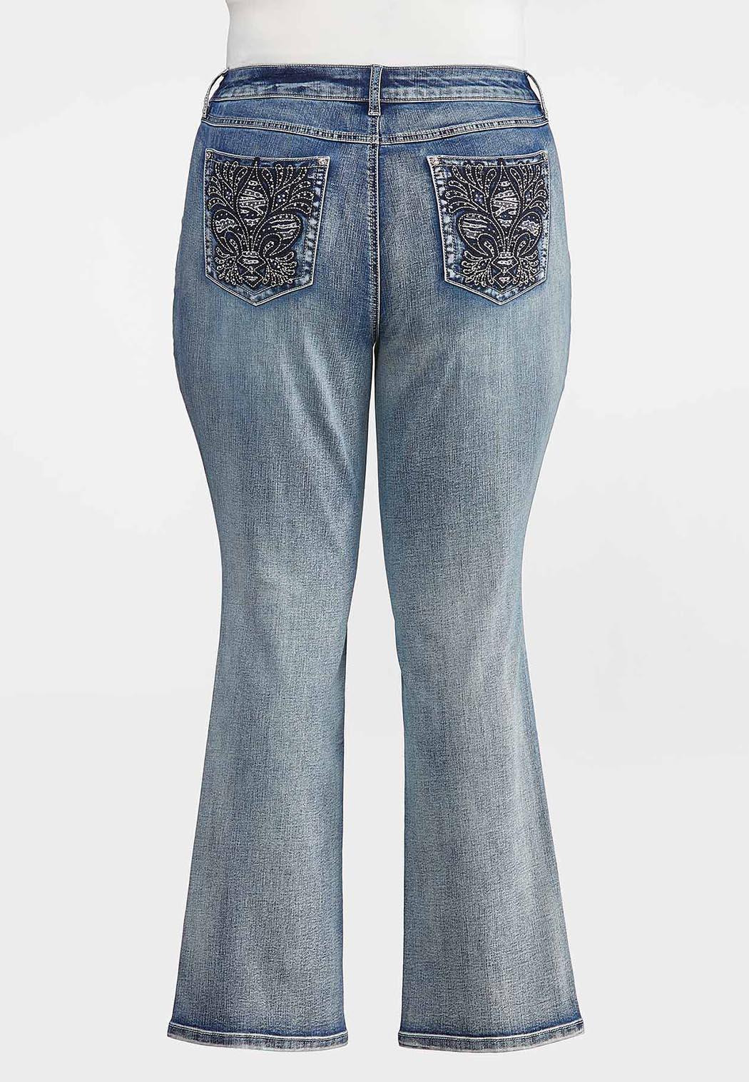 Plus Petite Fleur Di Lis Pocket Jeans