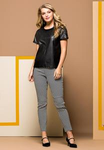 Plus Size Slim Houndstooth Pants