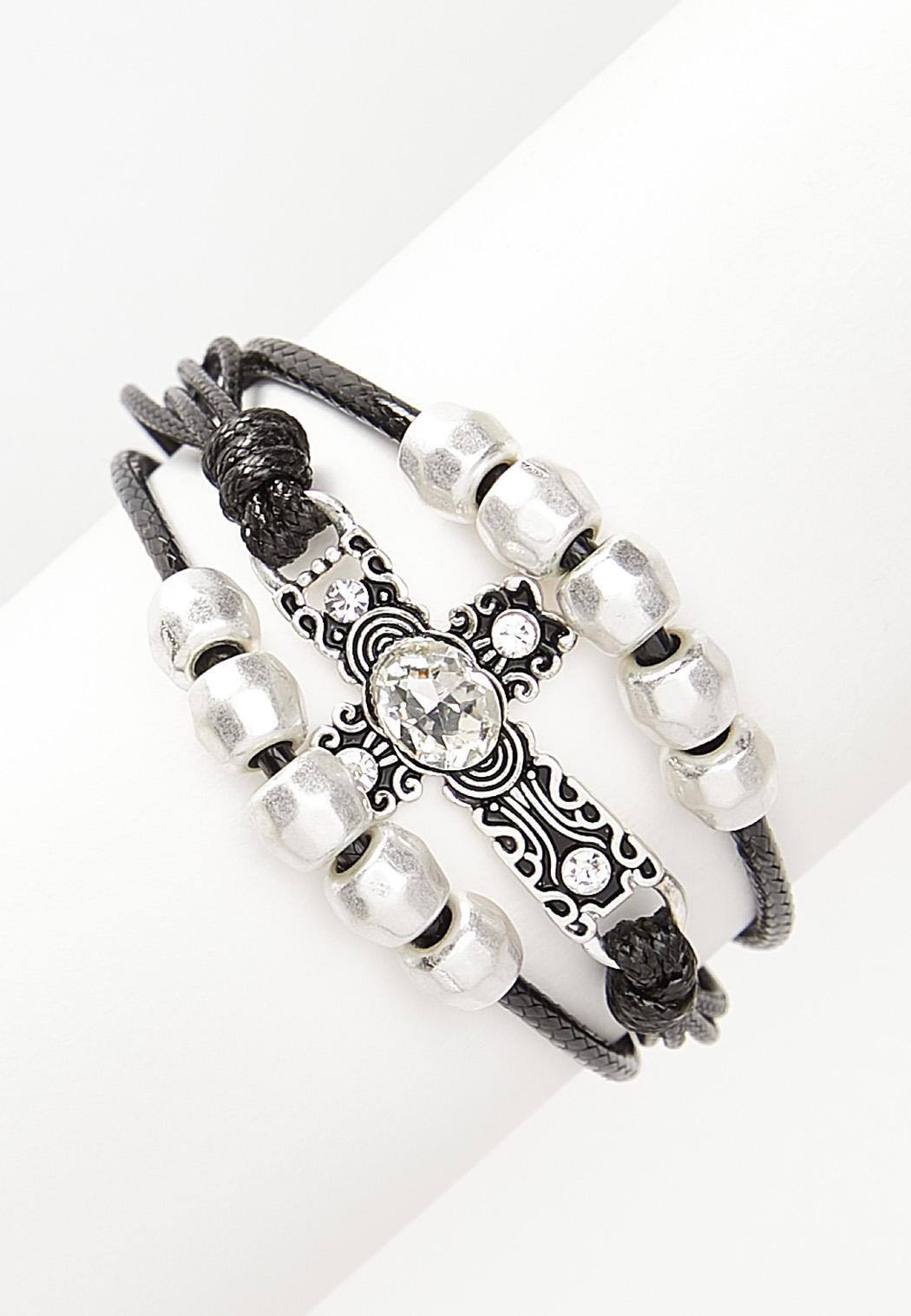 Cord Cross Magnetic Bracelet