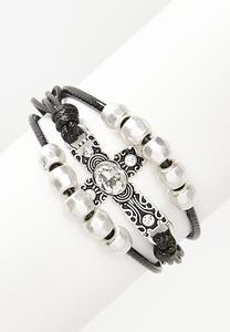 Cord Cross Magnetic Bracelet
