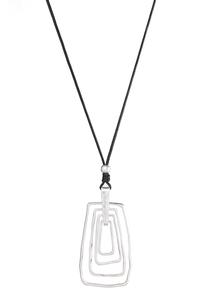 Square Rings Pendant Necklace