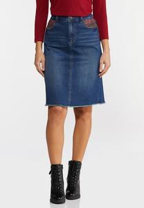 Plaid Pocket Denim Skirt