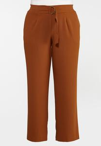 Plus Size Caramel Wide Leg Trouser Pants