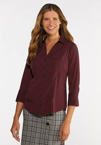 Stretch Button Down Shirt