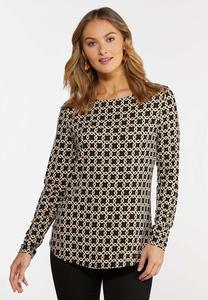 Stretchy Geo Link Top