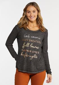 Plus Size Fall Fun Thermal Top