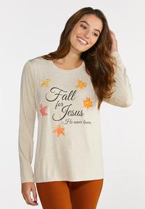 Plus Size Fall For Jesus Top