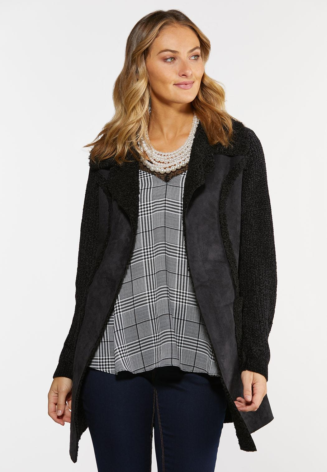 Sherpa Front Cardigan Sweater