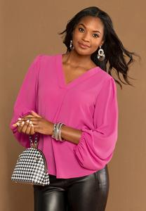 Plus Size Fuchsia Pullover Top