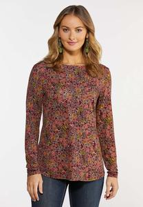 Plus Size Dusty Floral Top