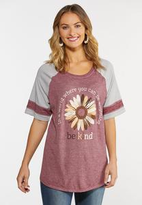 Plus Size Be Kind Baseball Tee