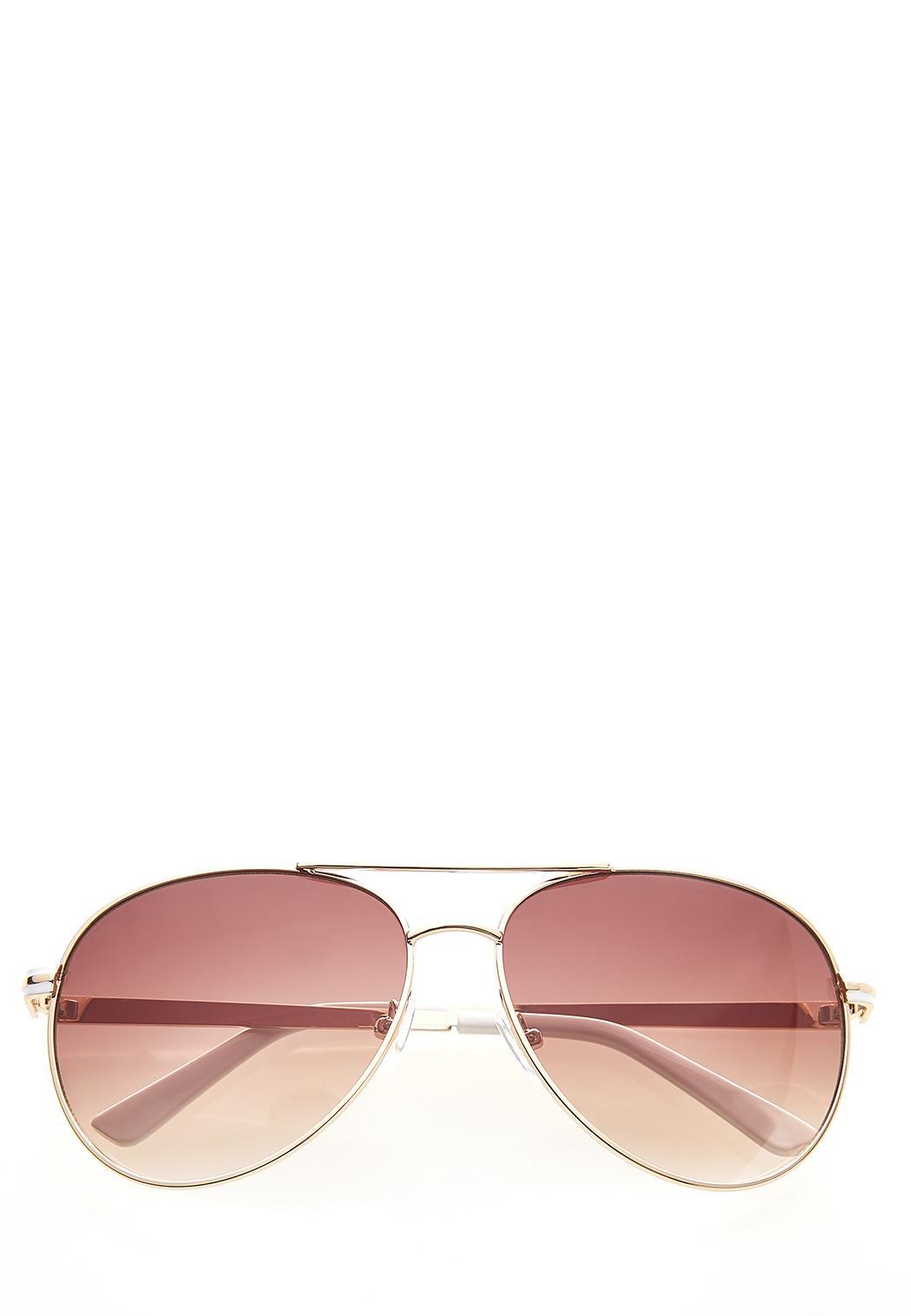 White Enamel Sunglasses