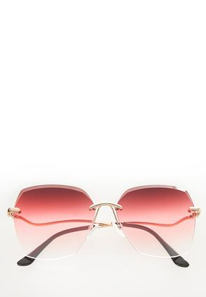 Beveled Rose Colored Sunglasses