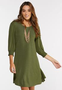 Plus Size Smocked Puff Sleeve Dress