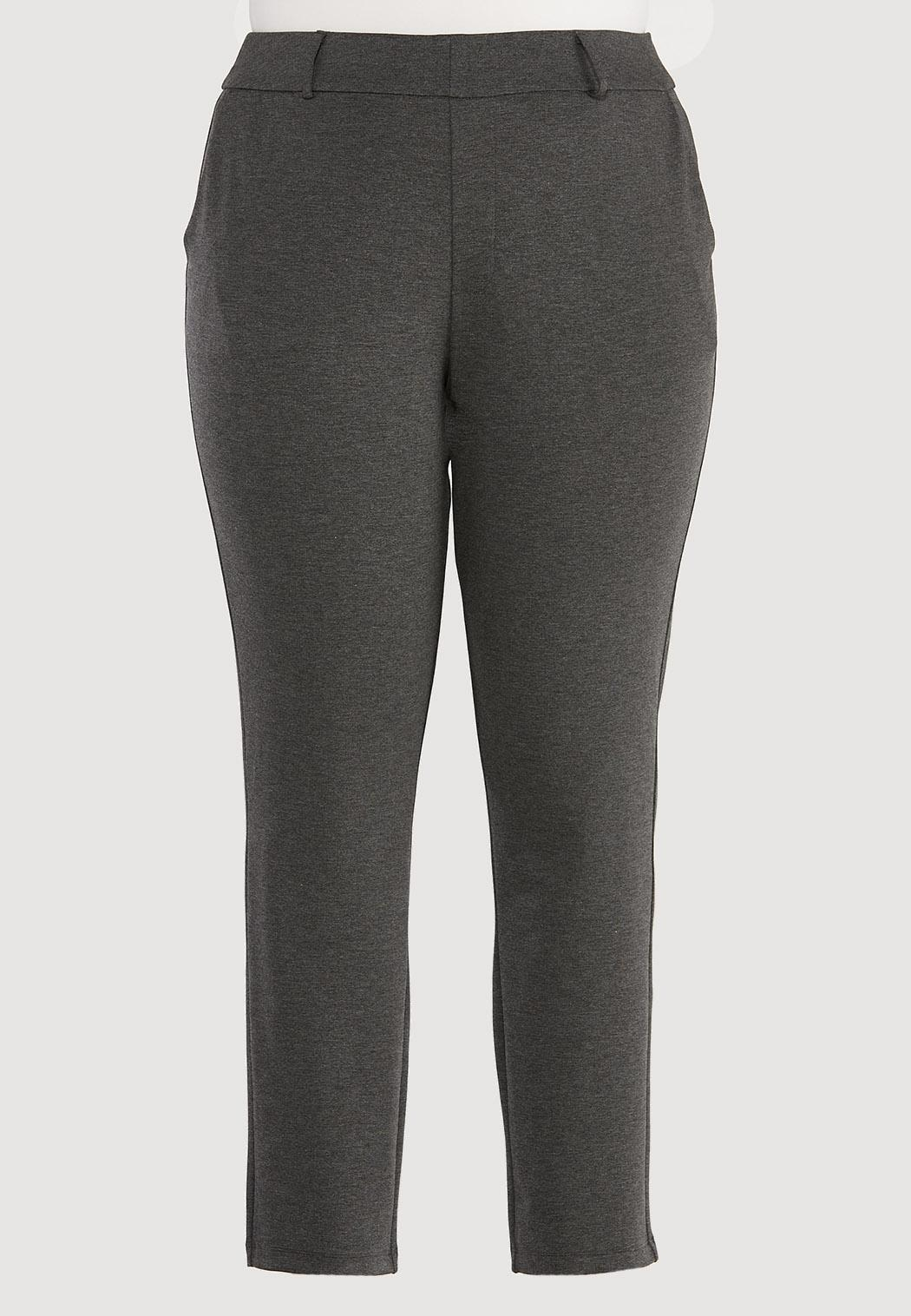 Plus Size Slim Ponte Pants