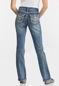 Embellished Cross Pocket Jeans