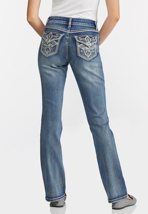 Petite Embellished Cross Pocket Jeans