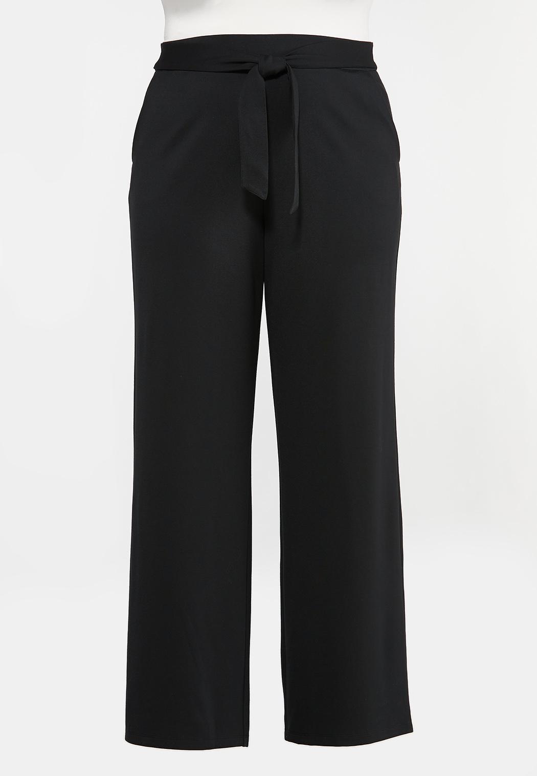 Plus Petite Ponte Tie Waist Pants