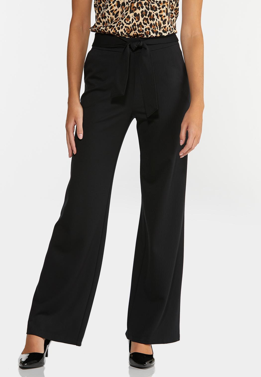 Petite Ponte Tie Waist Pants
