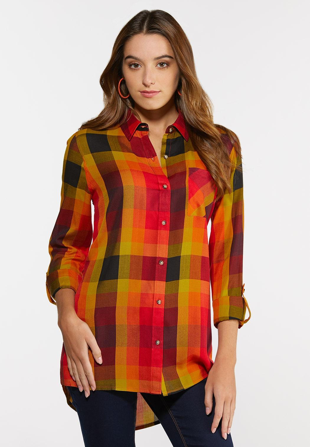 Plus Size Sunny Plaid Tunic