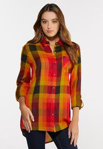 Plus Size Sunny Plaid Tunic