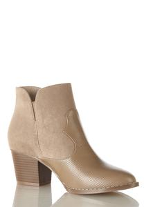 Mixed Media Ankle Boots